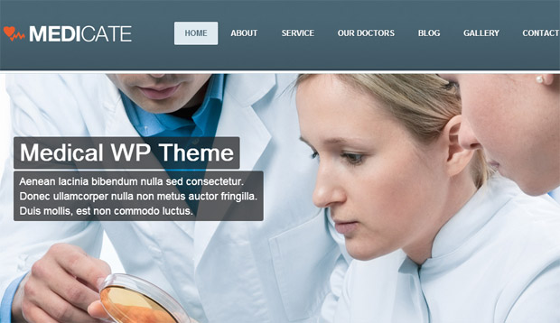 Medicate - Responsive Medical WordPress Theme