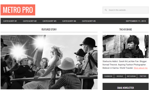 Metro Pro - Responsive Magazine WordPress Theme