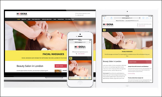 Modena - Beauticians WordPress Themes