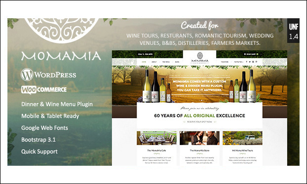 Momamia - Wine WordPress Themes