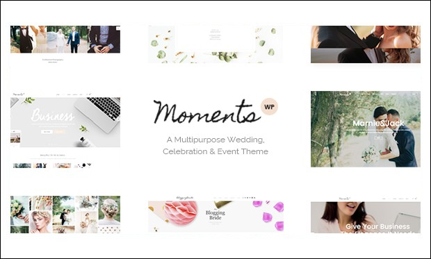 Moments - Wedding WordPress Themes