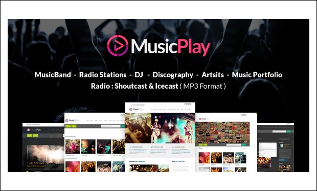 MusicPlay - Responsive DJ WordPress Themes