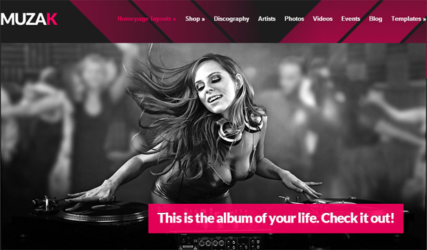 Muzak - Responsive Music Blog WordPress Theme