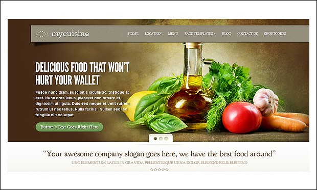MyCuisine - WordPress Themes for CafeHouse Restaurants