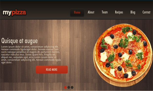Mypizza - Responsive Recipe WordPress Theme