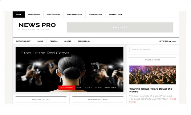 News Pro - News Websites WordPress Themes