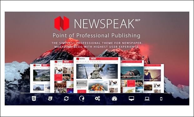 Newspeak - News Websites WordPress Themes