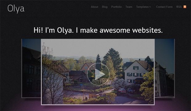 Olya - Responsive Video WordPress Theme