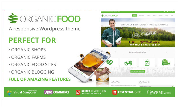 Organic Food - Recipe WordPress Themes