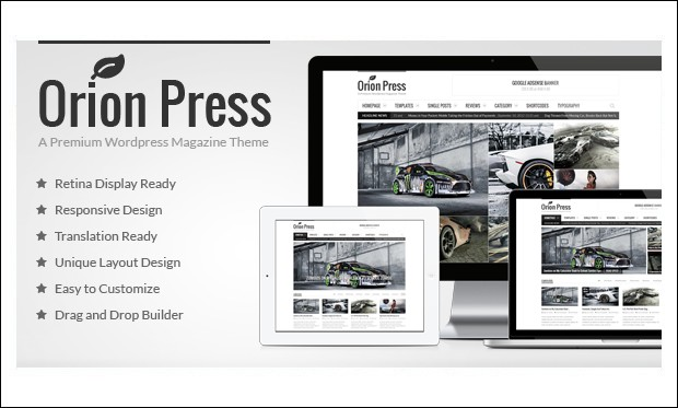 Orion Press - WordPress Themes for Magazine Websites