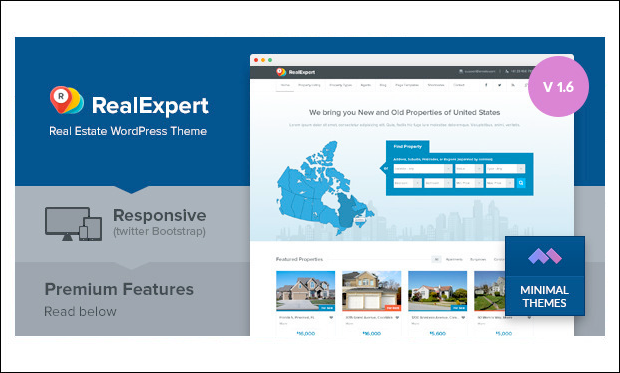 Real Expert - Responsive WordPress Themes for Real Estate Agents