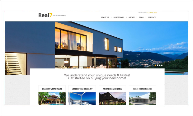 Real7 - Responsive WordPress Themes for Real Estate Agents