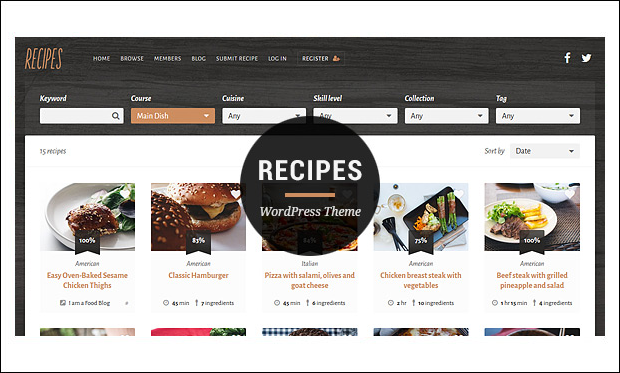 Recipes - Recipe WordPress Themes