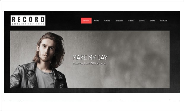Record Label - WordPress Themes for Catalogs