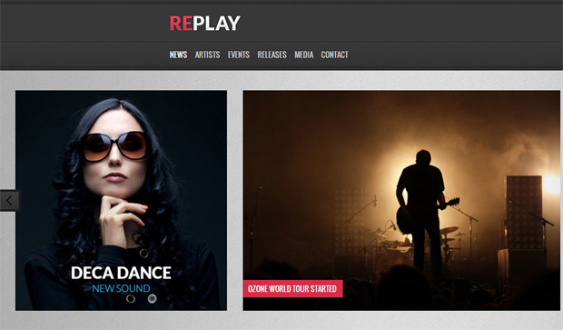 Replay - Responsive Artist WordPress Theme