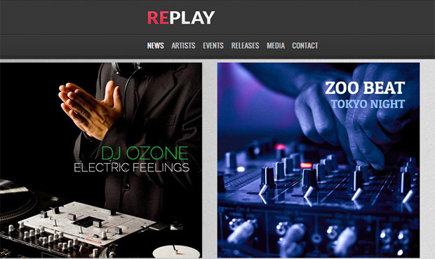 Replay - Responsive Music Blog WordPress Theme