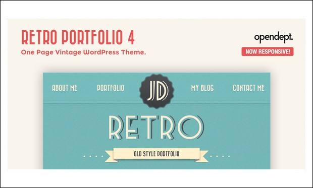 Retro Portfolio - Retro WordPress Themes