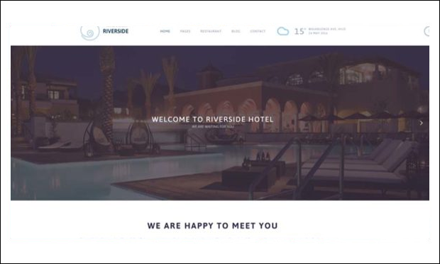 Riverside Resort - WordPress Theme for Hotel Websites