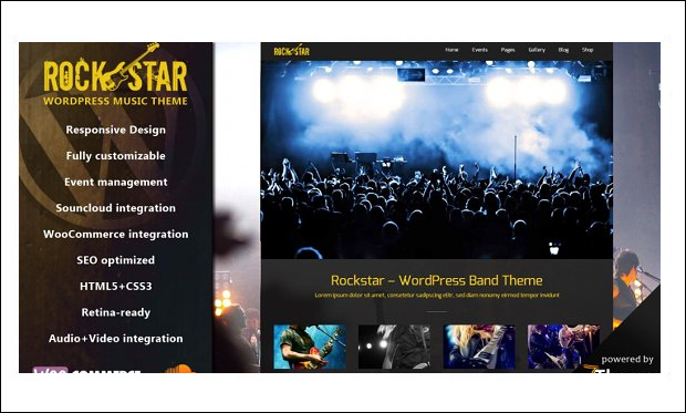Rockstar - WordPress Themes for Music Blogs