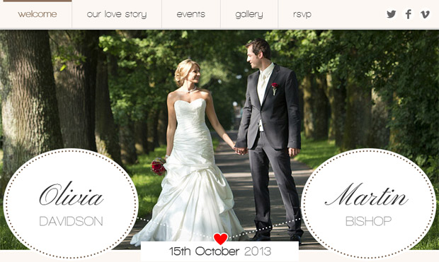 Romantic Wedding - Responsive Wedding Theme