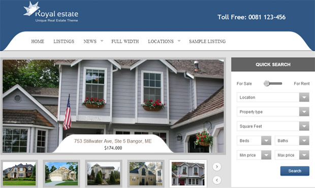 Royal Estate - Responsive Real Estate Theme