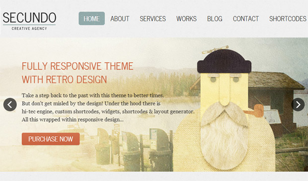 Secundo - Responsive Retro WordPress Theme