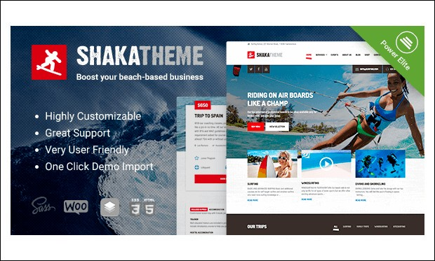 Shaka - Beachy WordPress Themes