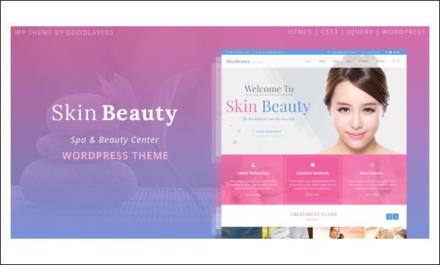 Skin Beauty - WordPress Themes for Makeup Artists