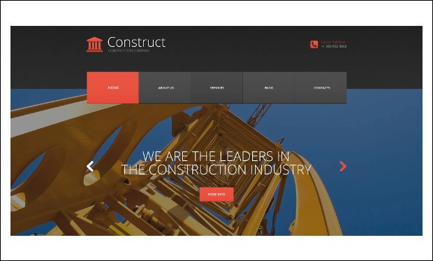 Skyscraper - WordPress Themes for Construction Companies