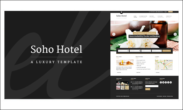 Soho Hotel - WordPress Theme for Hotel Websites