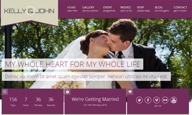 Soul - Responsive Wedding Theme