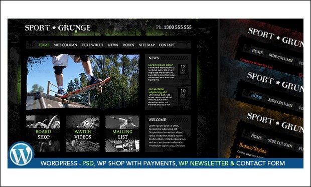 Sport Grunge - Retail Store WordPress Themes