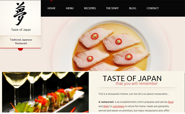 Taste of Japan - Responsive Recipe WordPress Theme