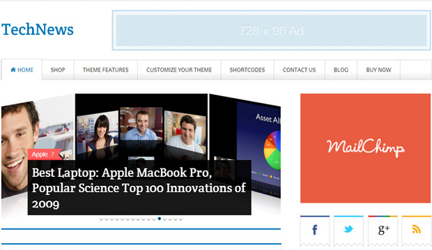 TechNews - Responsive Magazine WordPress Theme