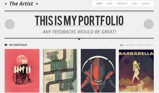 The Artist - Responsive Artist WordPress Theme