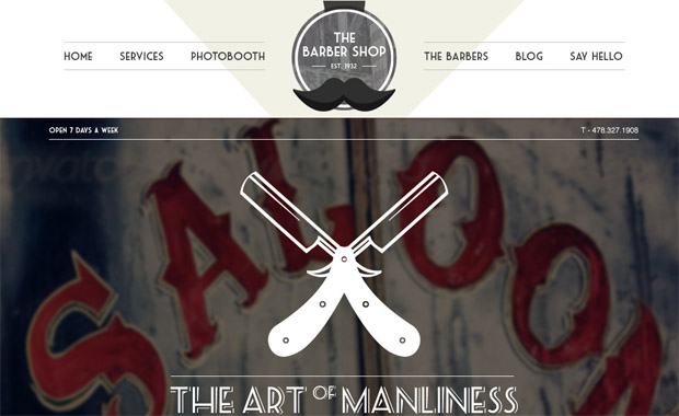 The Barbershop - Salon Responsive WordPress Theme