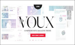 The Voux - WordPress Theme for Recipe Magazines