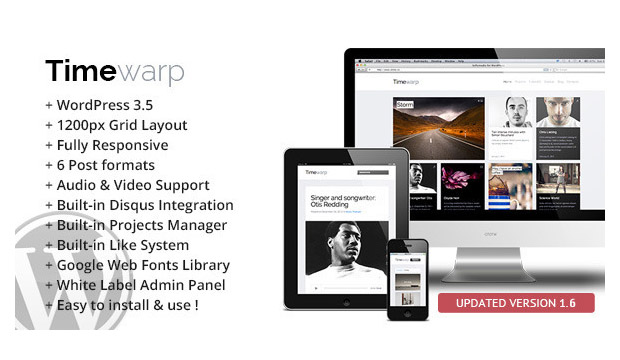 Timewarp - Responsive Artist WordPress Theme