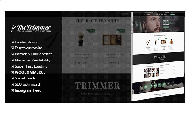 Trimmer - WordPress Themes for Barber Shops