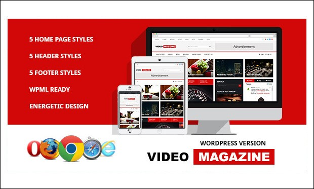 Video Magazine - Video Magazine WordPress Themes