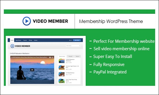 Video Member - Video Based WordPress Themes