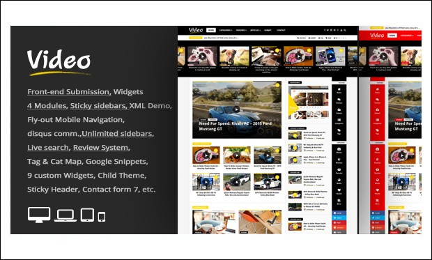 Video News - Video Magazine WordPress Themes
