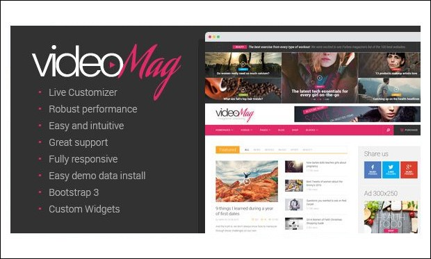 VideoMag - Video Magazine WordPress Themes