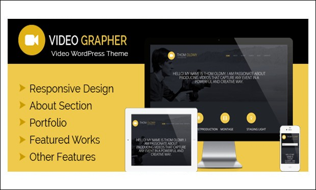 Videographer - Video Lab - Video Based WordPress Themes