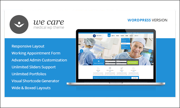 We Care - WordPress Themes for Medical Websites