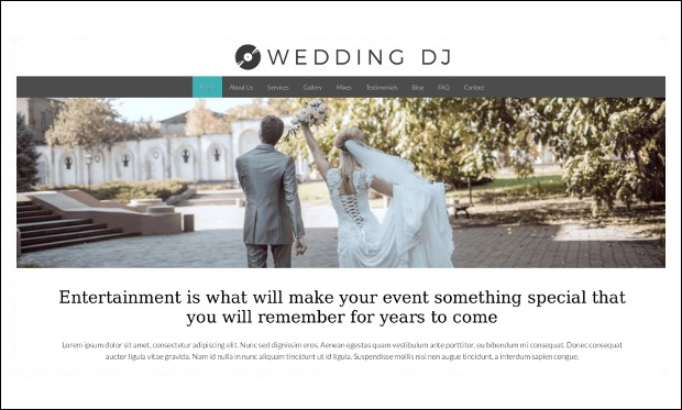Wedding DJ -Responsive DJ WordPress Themes