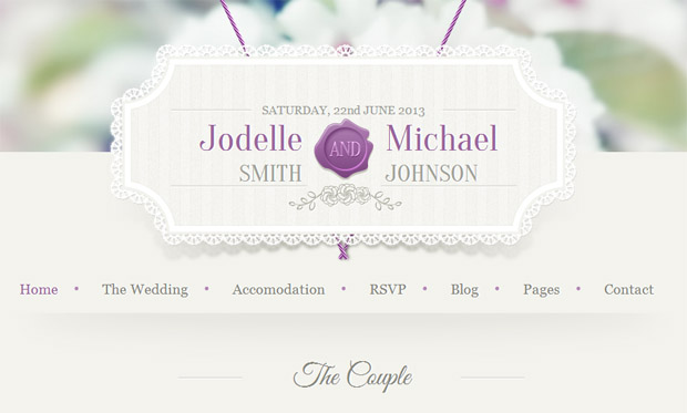 Wedding Invitation - Responsive Wedding Theme