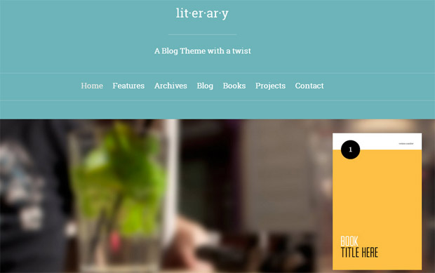WordPress Responsive Theme for Book Writers
