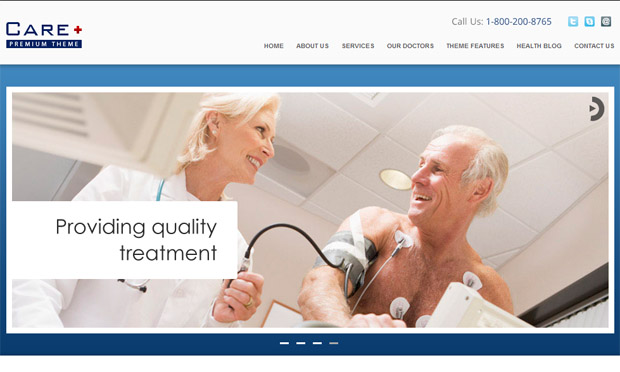 WordPress Responsive Theme for Medical Doctors