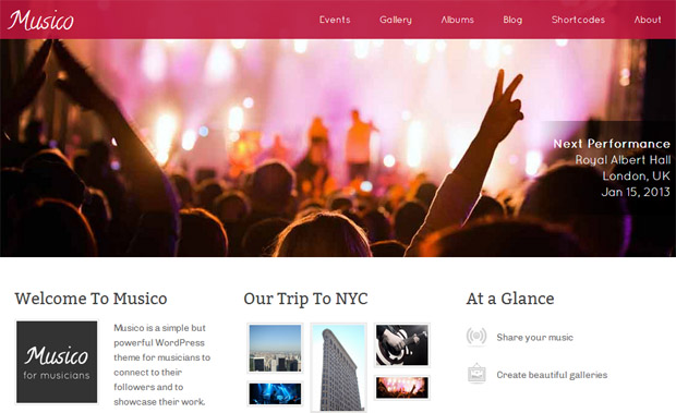 WordPress Responsive Theme for Musicians